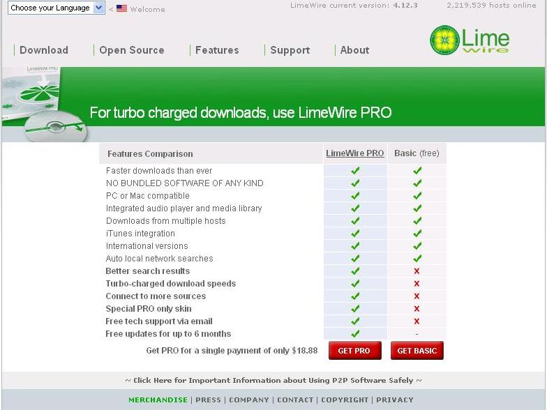 LimeWire 4.18.8 Free Download